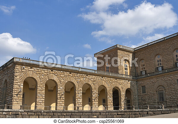 Pitti palace in Florence - csp25561069