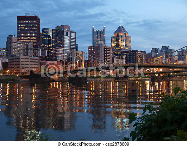 Pittsburgh and the Ohio River - csp2878609
