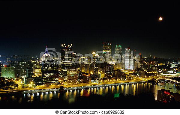 Pittsburgh at Night - csp0929632