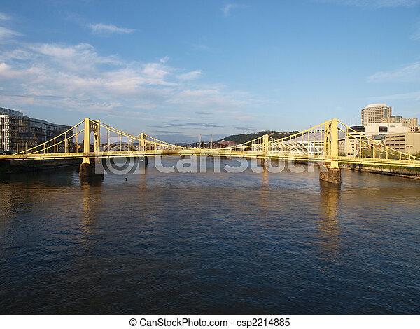 Pittsburgh bridges daytime. - csp2214885