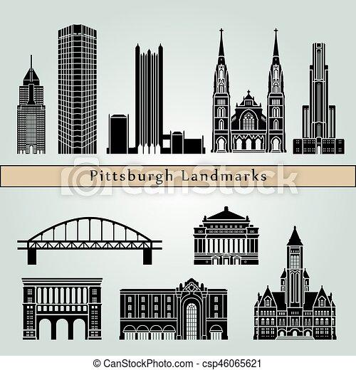 Pittsburgh V2 Landmarks - csp46065621