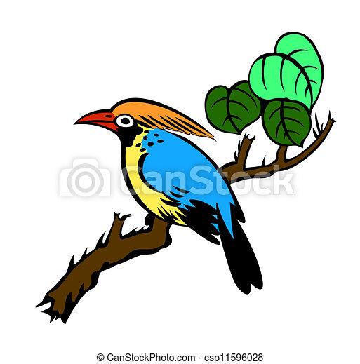pittura, uccello - csp11596028