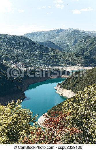 Piva reservoir in Montenegro - csp82329100