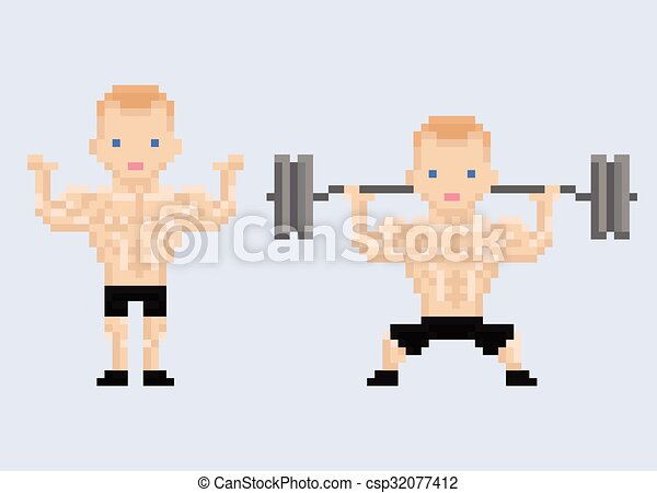 Pixel Art Sports And Athletes Vector Pixel Art Sports And