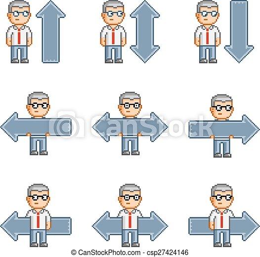 Pixel art collection arrows - csp27424146