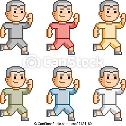 Pixel art funny runners - csp27424180