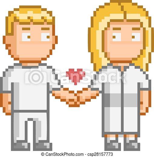 Pixel Art People Love You Vector Pixel Art People Love You For Design
