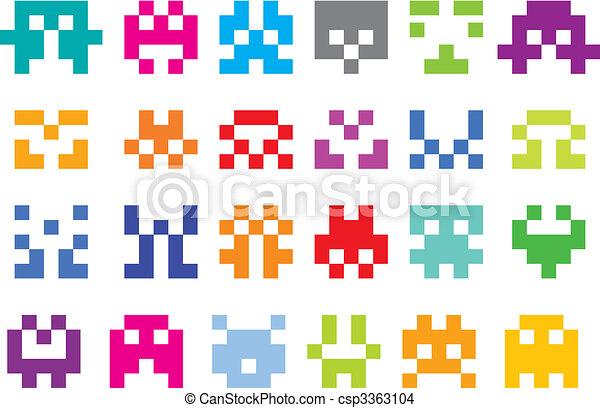 pixel characters - csp3363104