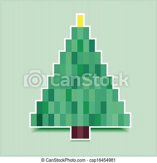 pixel christmas tree - csp16454981
