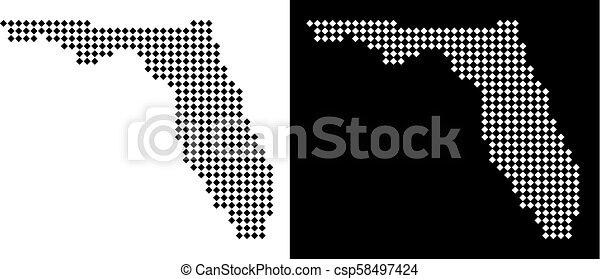 Pixel Florida Map - csp58497424