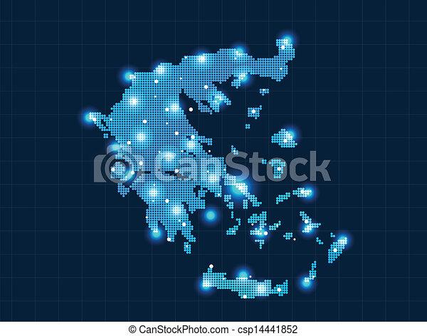 pixel Greece map - csp14441852
