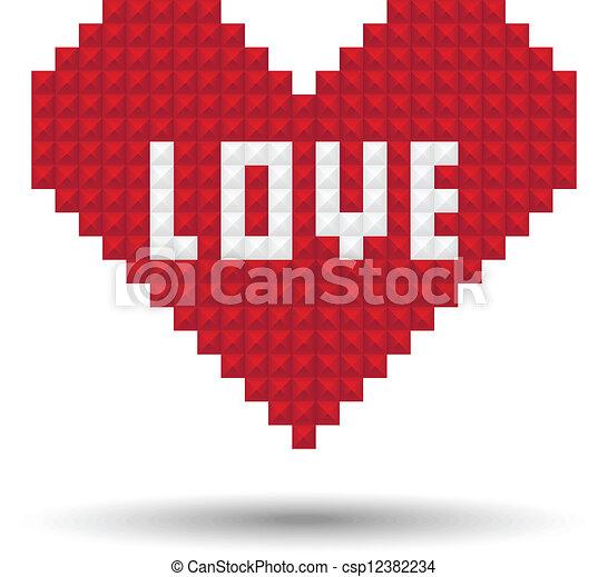 Pixel Heart Love
