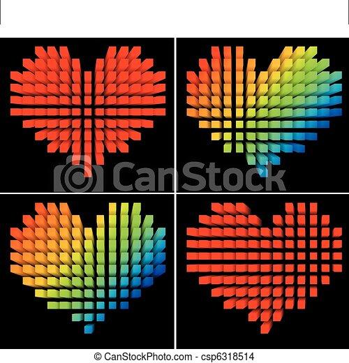 pixel hearts - csp6318514
