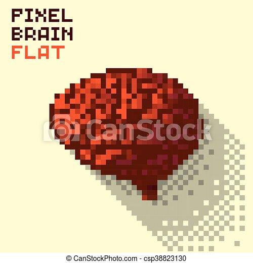 Elegant Pixel Human Brain   Csp38823130