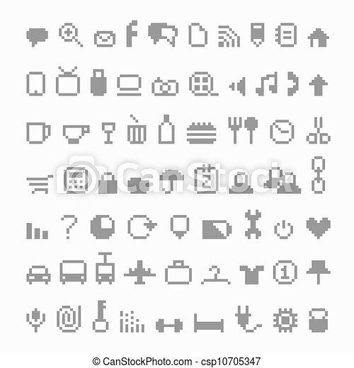 Pixel icons  - csp10705347