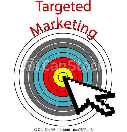 El blanco de Marketing Pixel hace clicks en los ojos - csp2802446