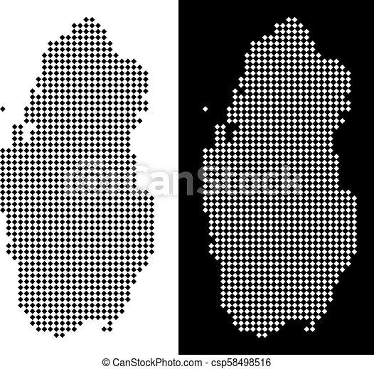 Pixel Qatar Map