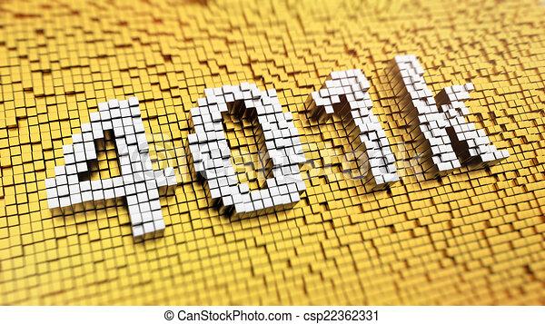 Pixelated 401k - csp22362331