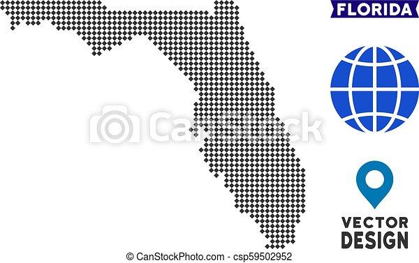 Pixelated Florida Map - csp59502952