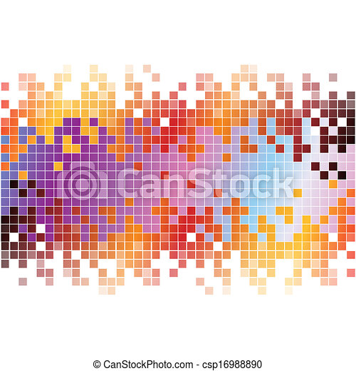 pixels, abstract, achtergrond, kleurrijke, digitale  - csp16988890