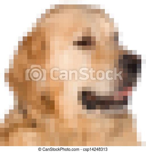 Pixels Image Of A Dog