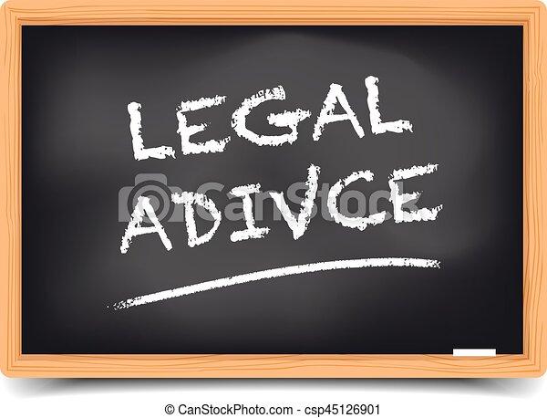 Consejo legal de pizarra - csp45126901