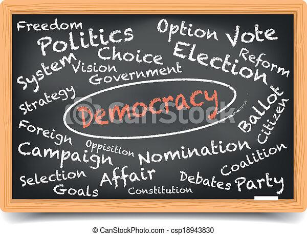 pizarra, democracia - csp18943830