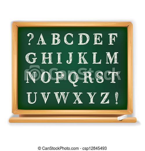 Abc está escrito en la pizarra - csp12845493
