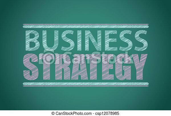 Estrategia de negocios escrita en una pizarra - csp12078985