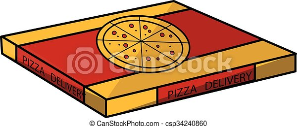 pizza box clip art vector search drawings and graphics images rh canstockphoto com open pizza box clipart Pizza Box Clip Art Black and White