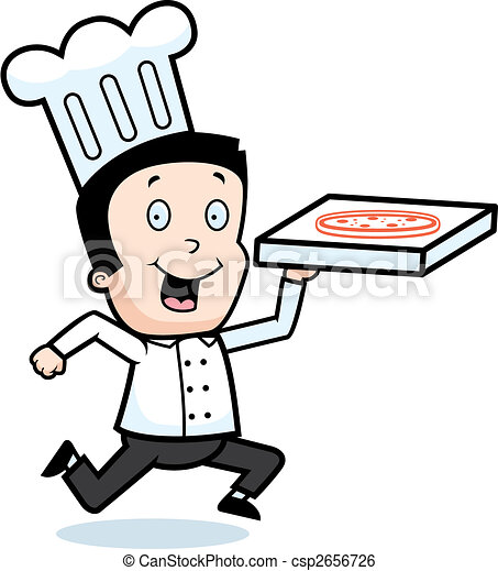 pizza chef a cartoon chef with a pizza clip art vector search rh canstockphoto com chef clipart free chef clipart images