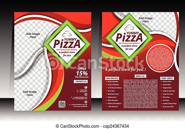 pizza flyer design template vector illustration