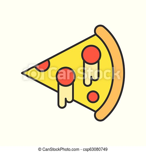 pizza, food and gastronomy set, filled outline icon - csp63080749