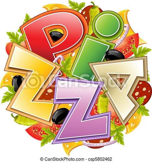 pizza food concept - csp5802462