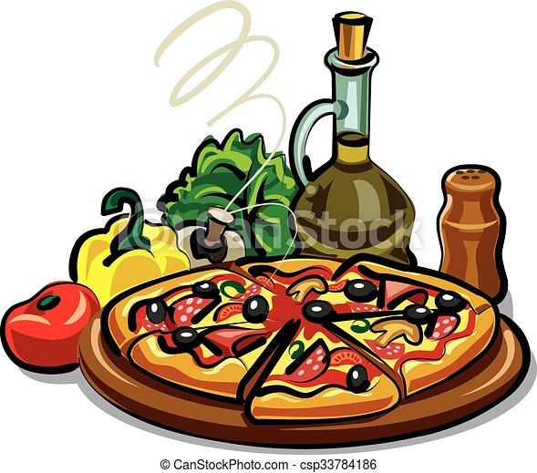 pizza hot - csp33784186