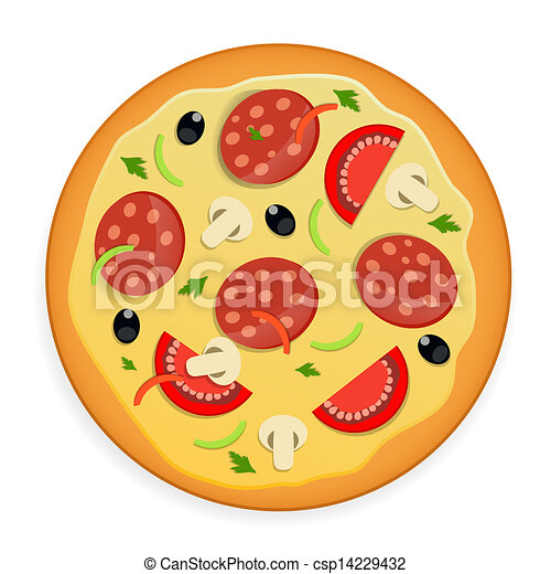 Pizza icon vector illustration. - csp14229432