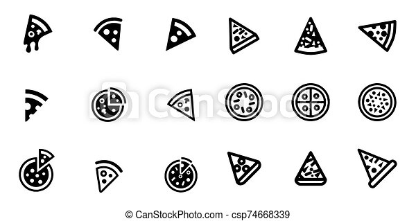 Pizza icon Vector illustration on the white background - csp74668339