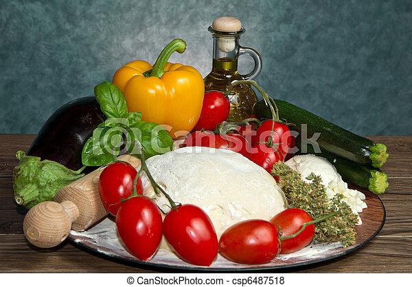 pizza ingredients - csp6487518