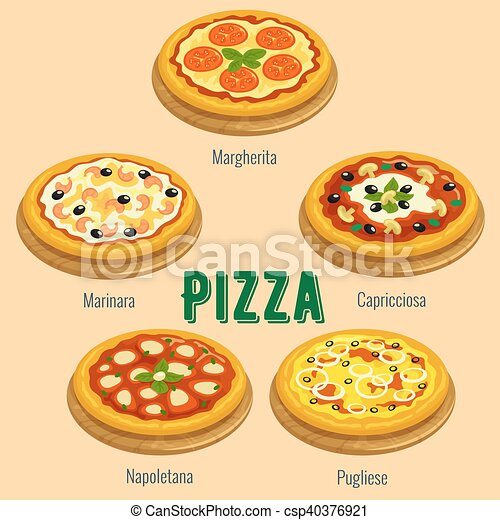Pizza Italian Cuisine Menu Card