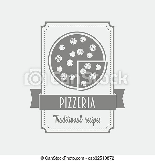 Pizza label logo for the italian restaurant and cafe black and logo for the italian restaurant and cafe black and white can be used to design menu business cards posters reheart Choice Image