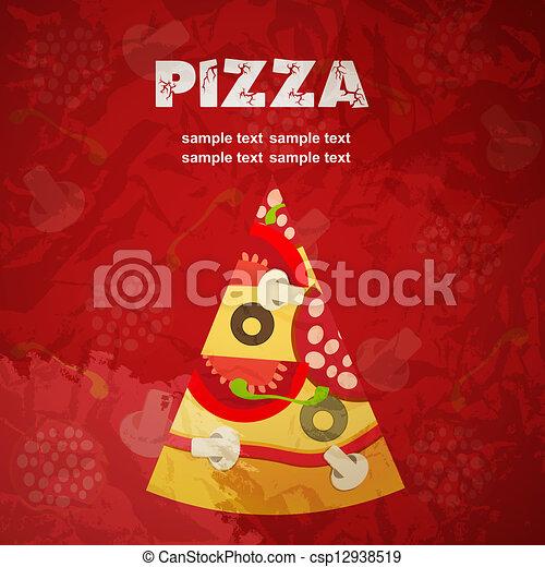 Pizza Menu Template, Vector Illustration