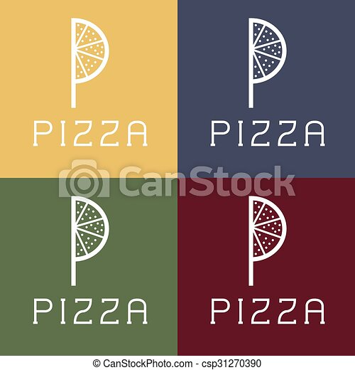 pizza monogram - csp31270390