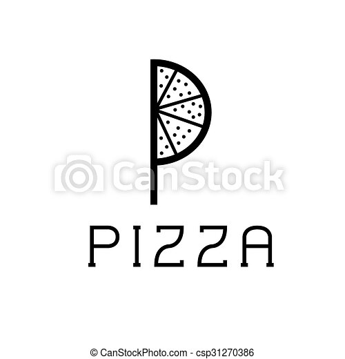 pizza monogram - csp31270386