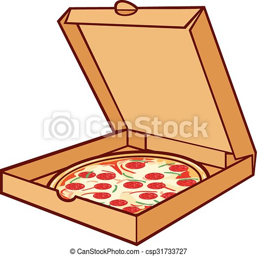 pizza on cardboard pizza in box pizza on cardboard pizza in box rh canstockphoto com pizza box design clipart