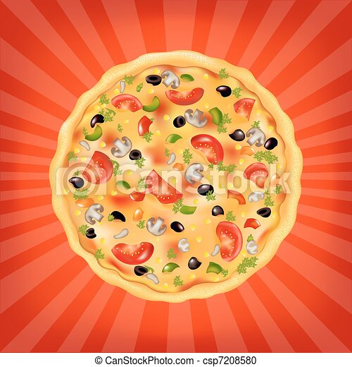 Pizza Poster - csp7208580