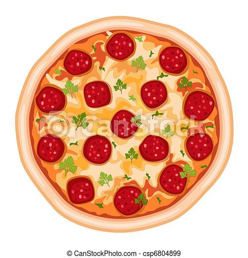 Pizza Salami - csp6804899