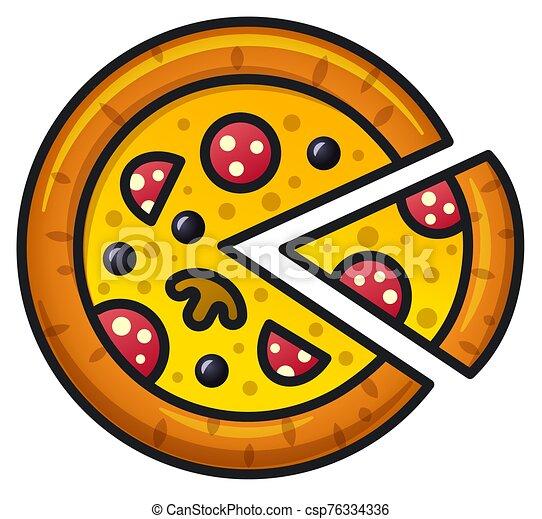 pizza salami - csp76334336