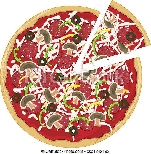 Pizza Slice Apart - csp1242192