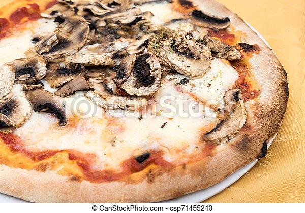 Pizza with mushrooms - csp71455240