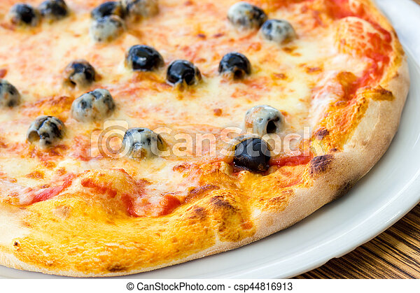 Pizza with olives - csp44816913